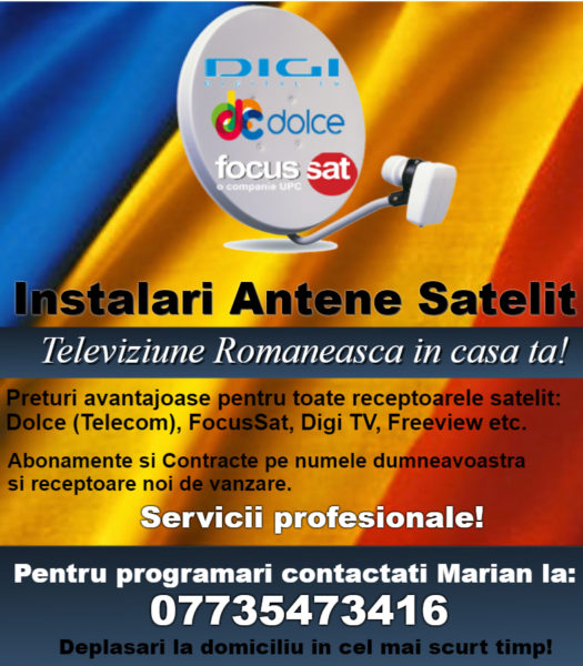 INSTALARI ANTENE SATELIT = CONTRACTE TV